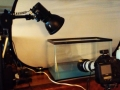 camera and overhead light setup